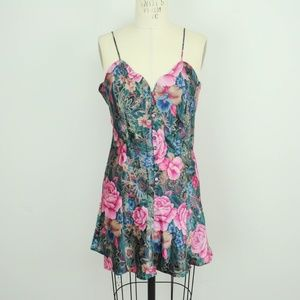 Vintage Victorias Secret Slip Dress Floral